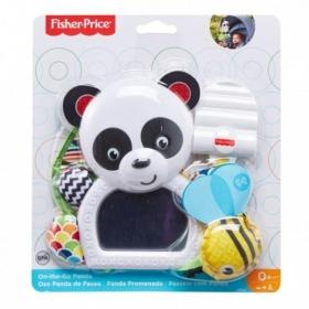Panda su veidrodėliu vežimėliui