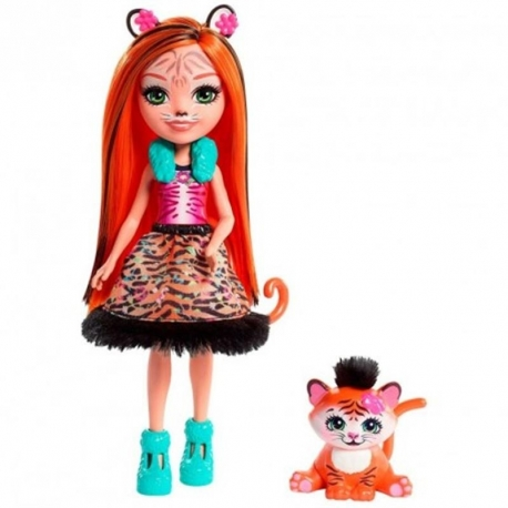 Enchantimals herojė Tigriukė Tanzė su gyvūnėliu