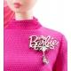 Kolekcijinė Barbė rožiniu kostiumėliu
