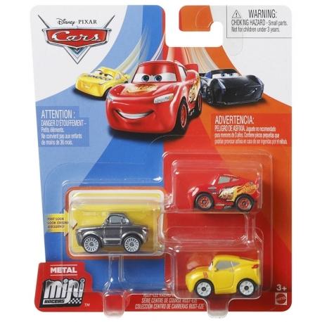 """Trijų CARS 3 automodelių """"Mini lenktynininkas"""" rinkinys GKG01"""