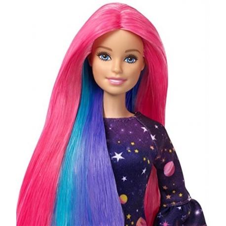 Barbė su magiškais plaukais