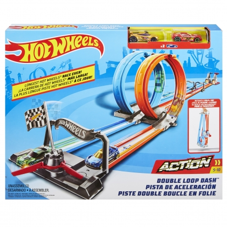 Hot Wheels trasa Dvi kilpos