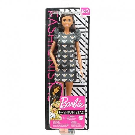Barbė madistė su suknele su peliukais