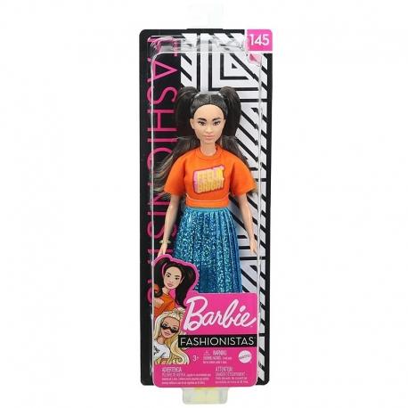 Barbė madistė su mėlynu sijonu