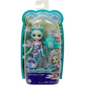 Enchantimals herojė jūrinė narvalė Naddie ir jos draugas