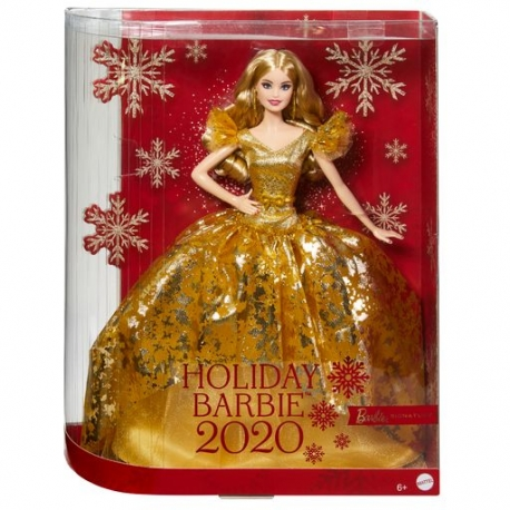 Kolekcijinė Barbė su auksine suknele