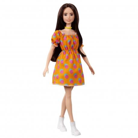 Barbė madistė oranžine suknele