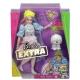 Barbė Extra lėlė rožine suknele