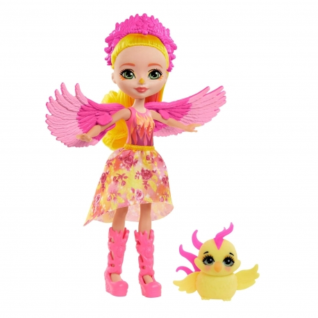 Enchantimals herojė feniksė Falonė su gyvūnėliu