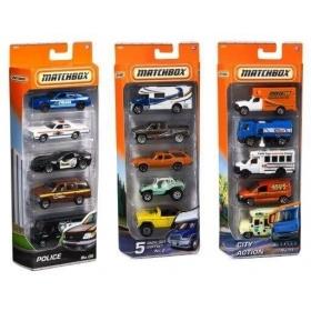 Penkių Matchbox automodelių rinkinys