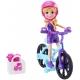 Polly Pocket lėlytė su dviračiu/motoroleriu
