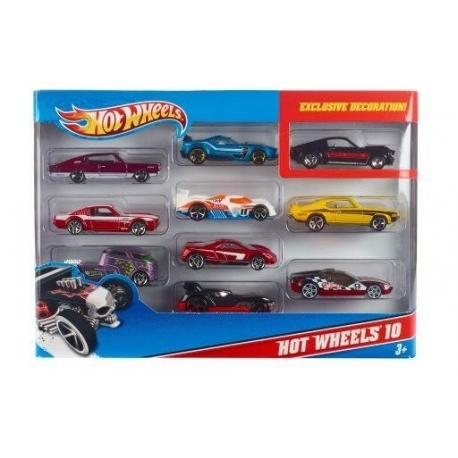 Hot Wheels 10 automodelių rinkinys