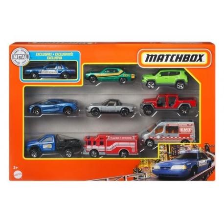 Devynių Matchbox automobilių rinkinys