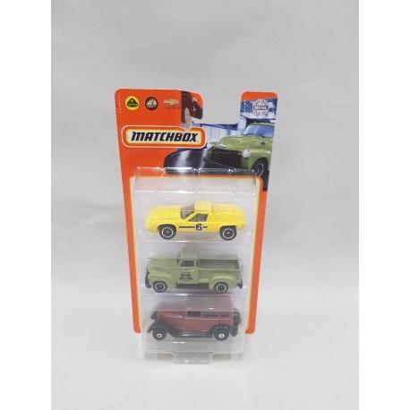 Matchbox trijų automodelių rinkinys PP