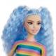 Barbė madistė mėlynais plaukais