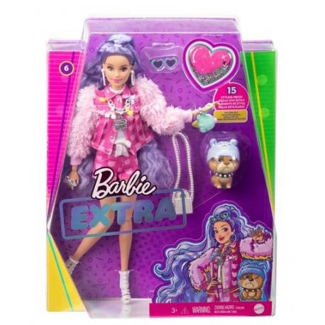 Barbė Extra lėlė violetiniais plaukais