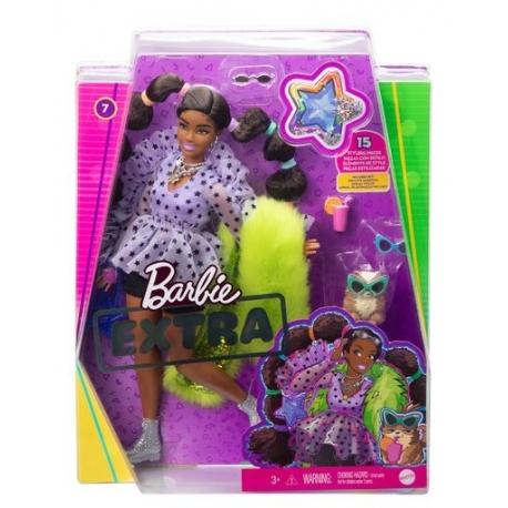 Barbė Extra lėlė violetine palaidine