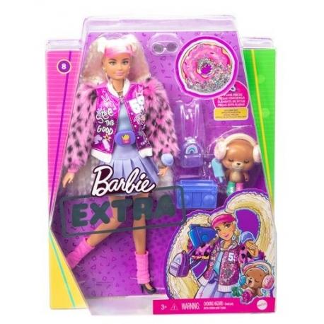 Barbė Extra lėlė šviesiais, garbanotais plaukais