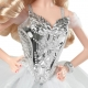 Kolekcijinė Barbė sidabrine suknele 2021