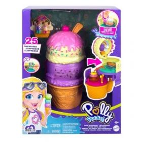 """Polly Pocket pramogų rinkinys """"Ledų kūgelis/sulčių kokteilis"""""""